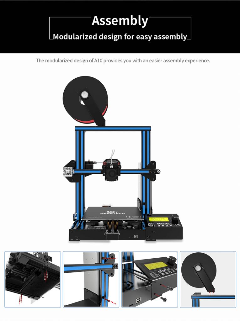 Assemblaggio Geetech A10